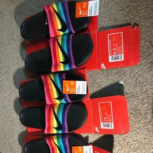 Nike Benassi JDI BeTrue Slides (PRIDE) unisex.
